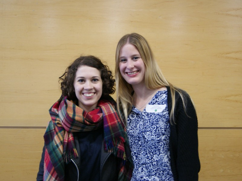 Two smiling women pose for a photo