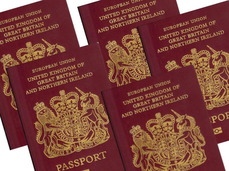 Five UK passports