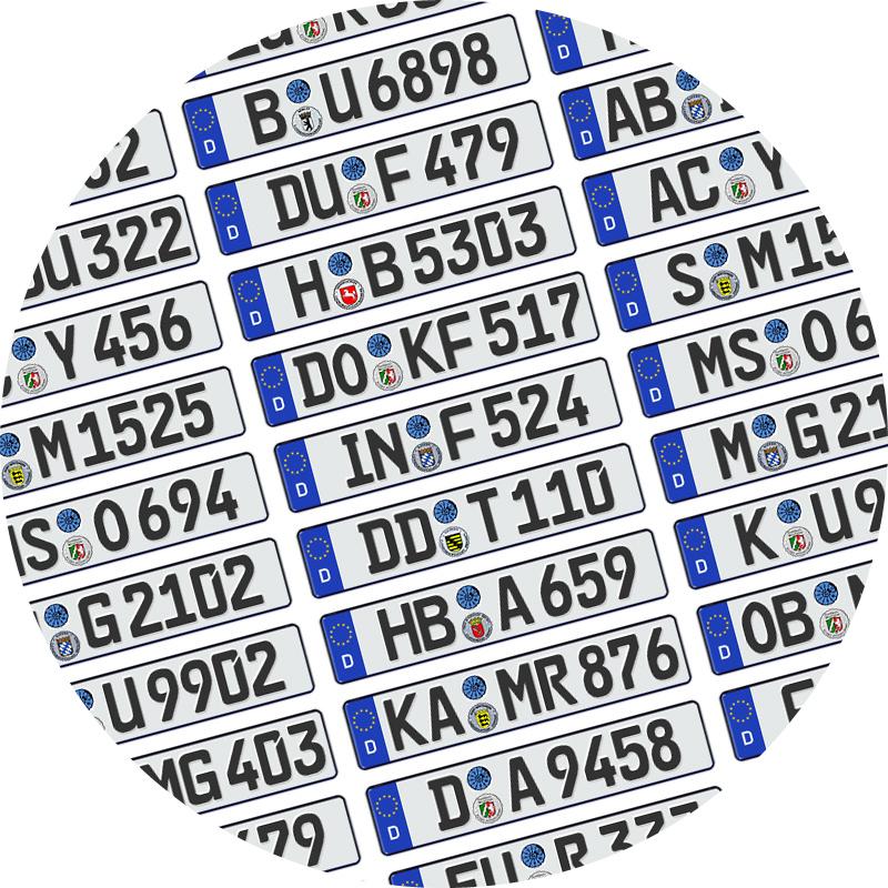 German numberplates