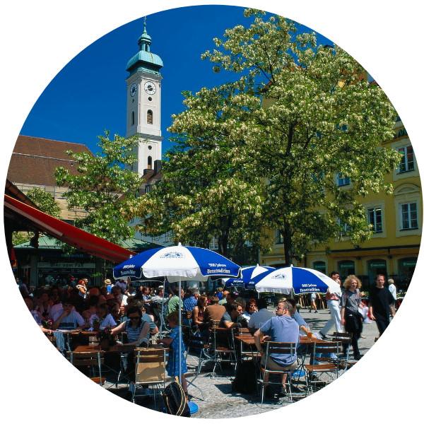 Munich, in the south