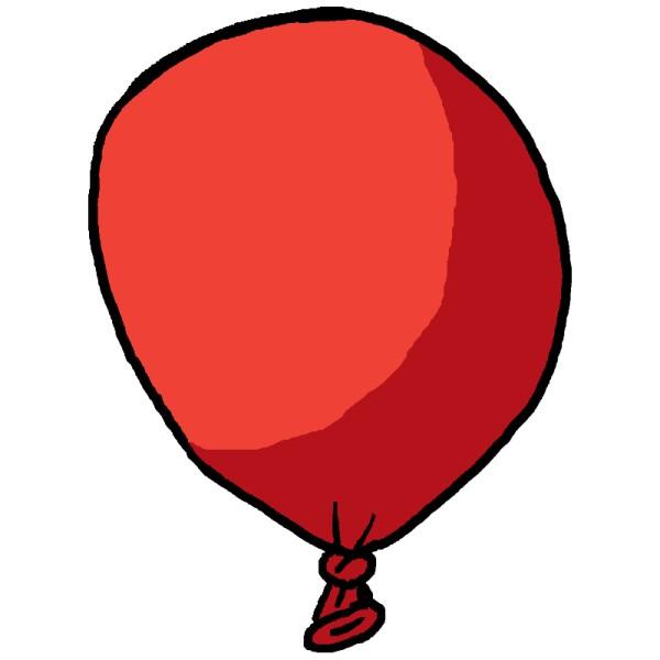 Ein roter Ballon