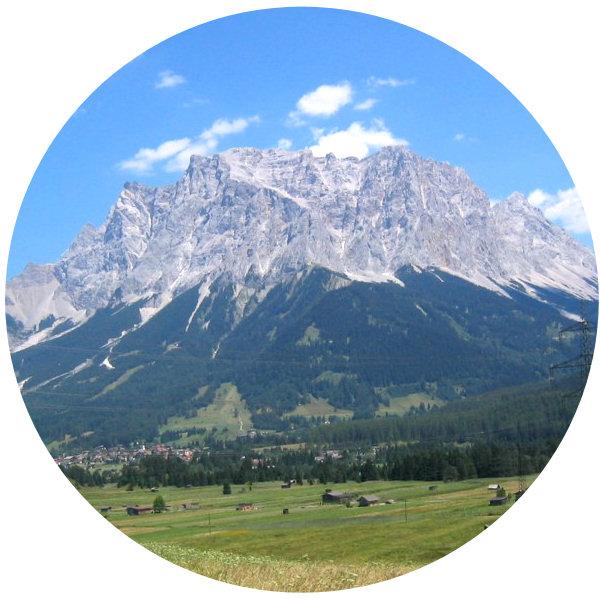 The Zugspitze in summer